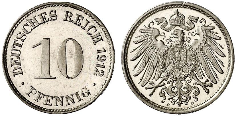 DE 10 Pfennig 1912 D