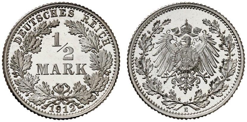 DE 1/2 Mark 1912 E