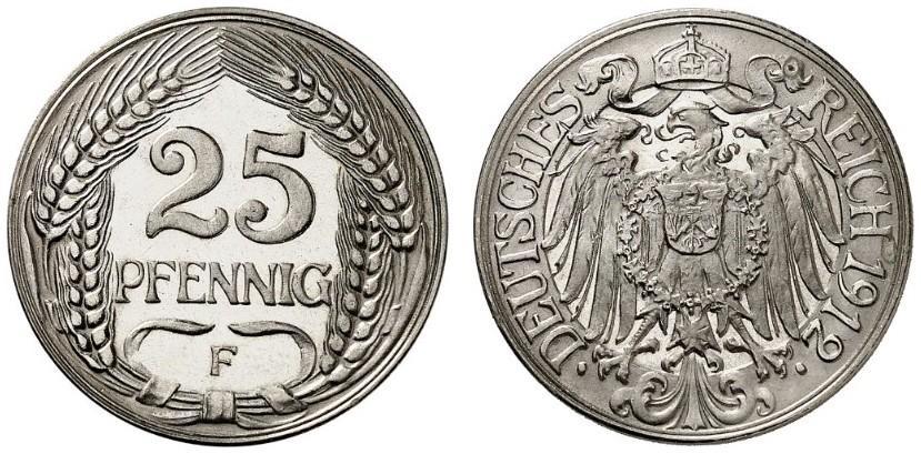 DE 25 Pfennig 1912 F