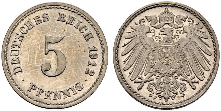 DE 5 Pfennig 1912 F
