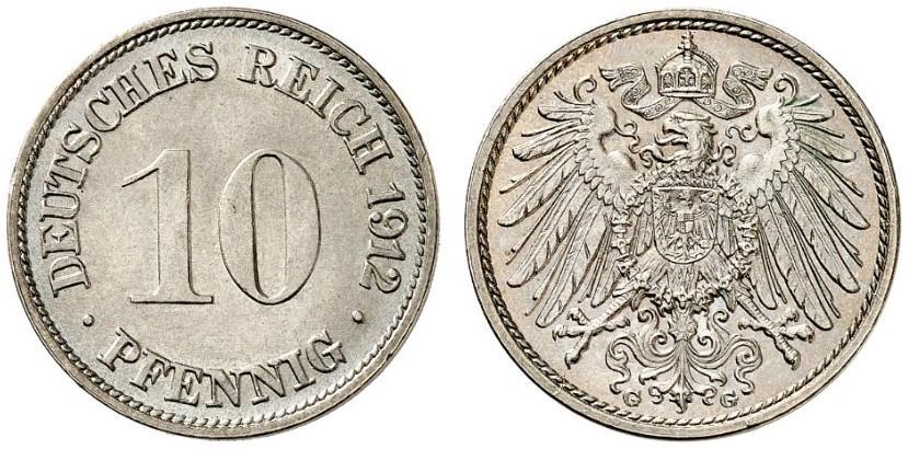 DE 10 Pfennig 1912 G