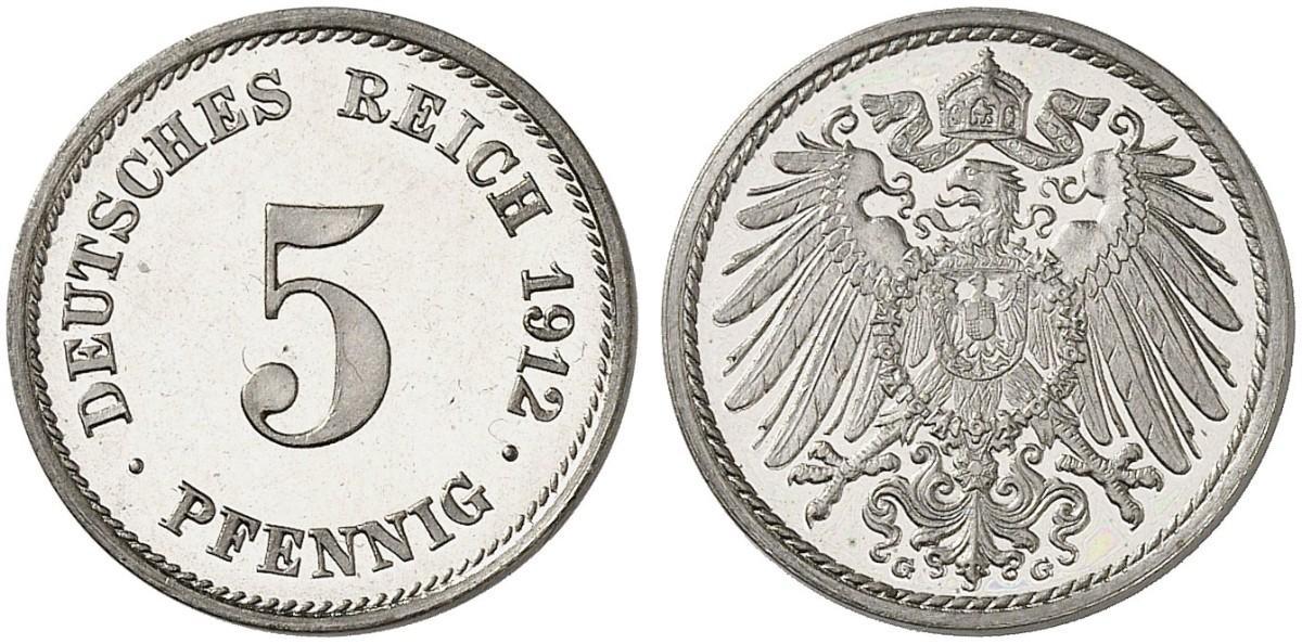 DE 5 Pfennig 1912 G
