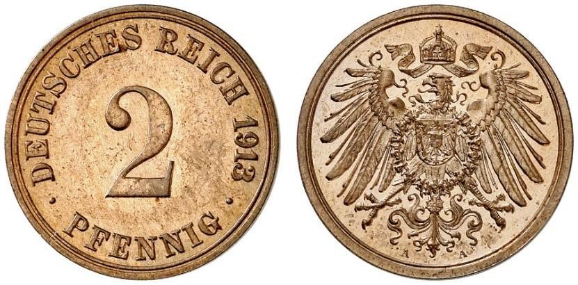 DE 2 Pfennig 1913 A