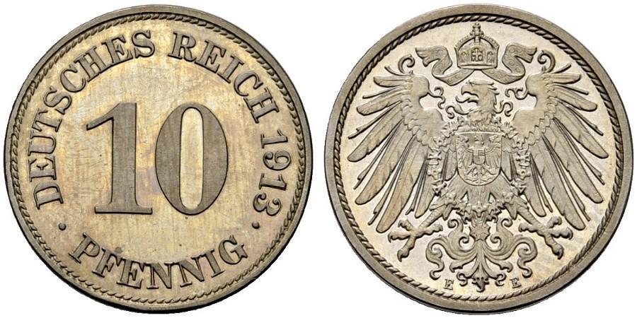 DE 10 Pfennig 1913 E