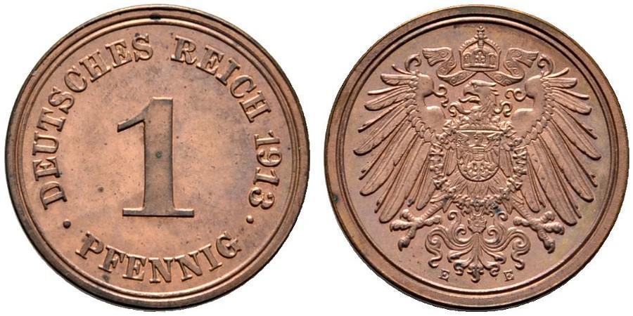DE 1 Pfennig 1913 E