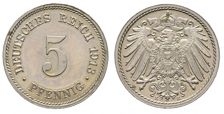DE 5 Pfennig 1913 E
