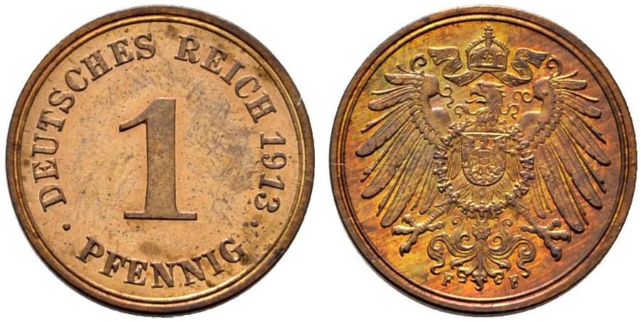 DE 1 Pfennig 1913 F