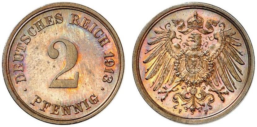 DE 2 Pfennig 1913 F