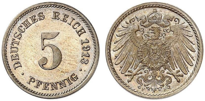 DE 5 Pfennig 1913 F