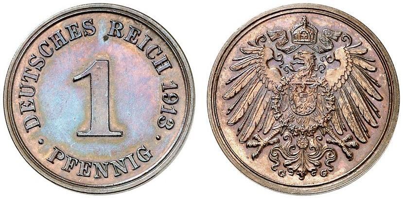 DE 1 Pfennig 1913 G