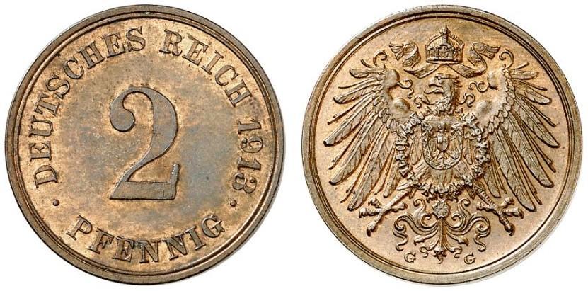 DE 2 Pfennig 1913 G