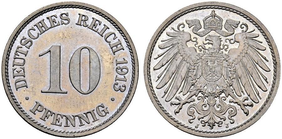 DE 10 Pfennig 1913 J