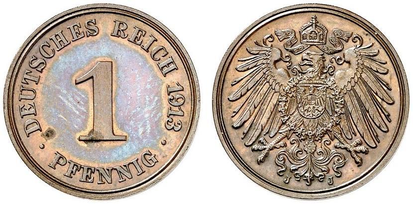 DE 1 Pfennig 1913 J
