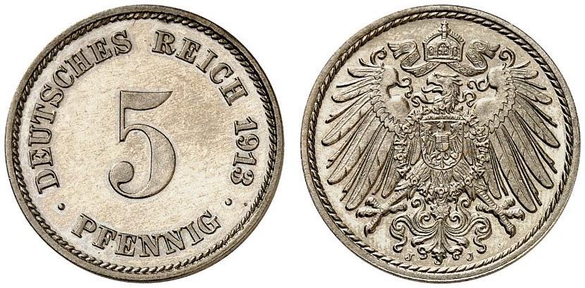 DE 5 Pfennig 1913 J