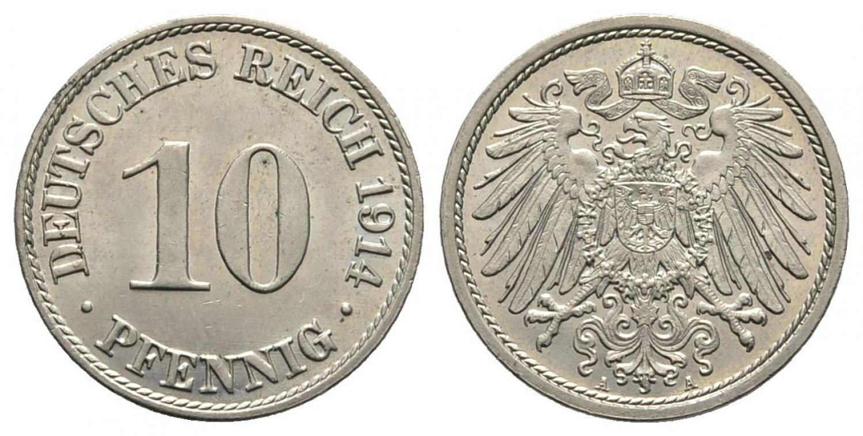 DE 10 Pfennig 1914 A