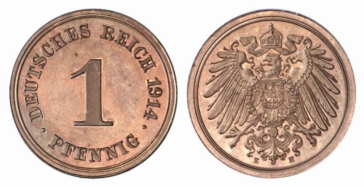 DE 1 Pfennig 1914 E