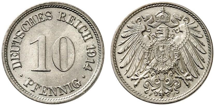 DE 10 Pfennig 1914 F