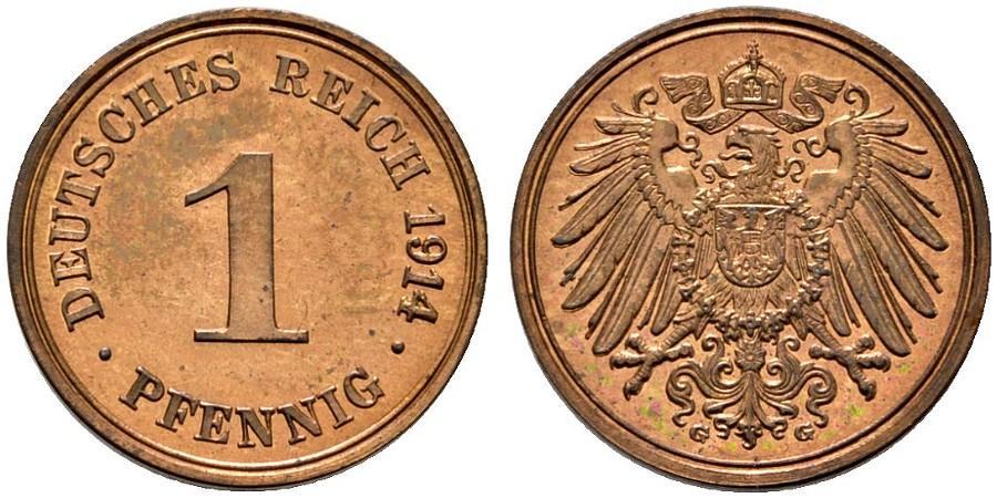 DE 1 Pfennig 1914 G