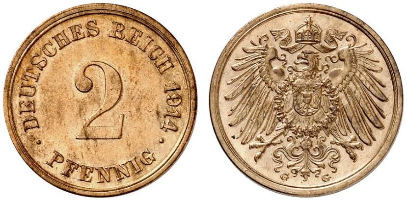 DE 2 Pfennig 1914 G