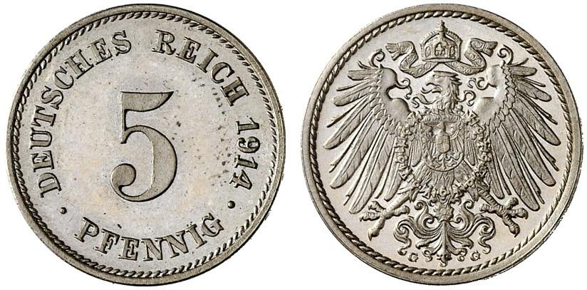 DE 5 Pfennig 1914 G