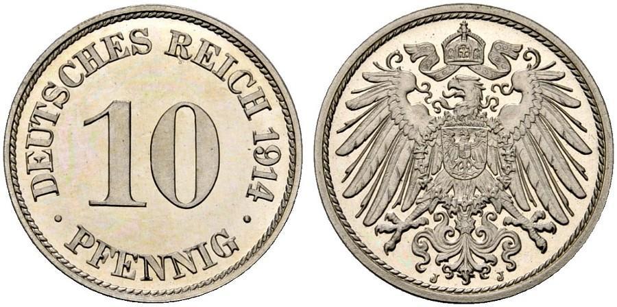 DE 10 Pfennig 1914 J