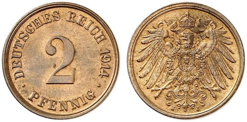 DE 2 Pfennig 1914 J