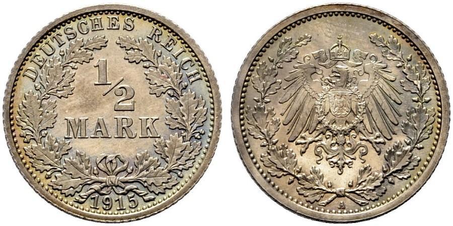 DE 1/2 Mark 1915 A
