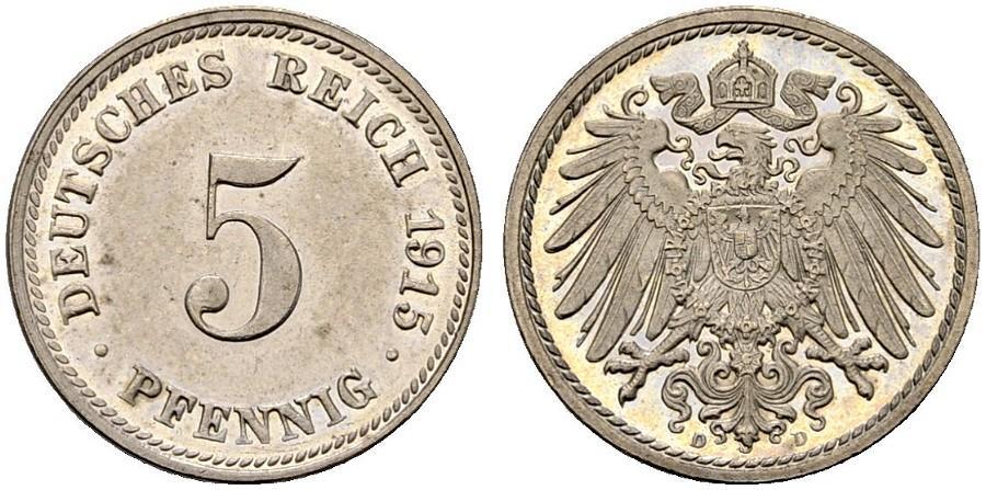 DE 5 Pfennig 1915 D