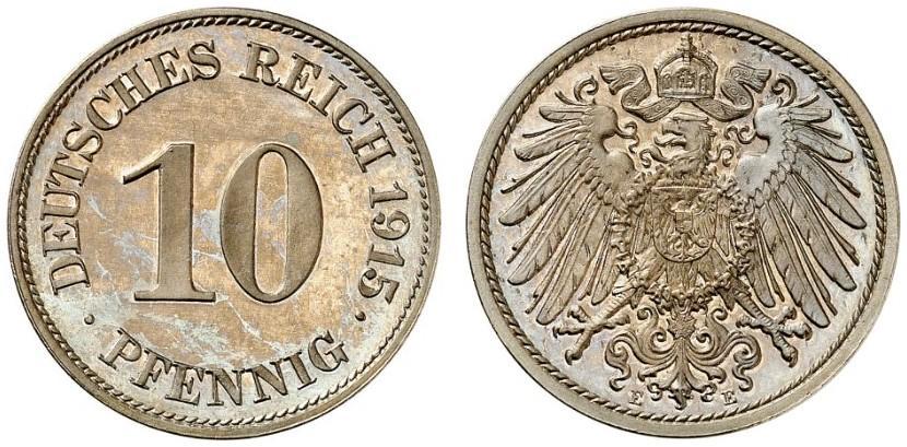 DE 10 Pfennig 1915 E