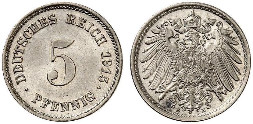 DE 5 Pfennig 1915 E