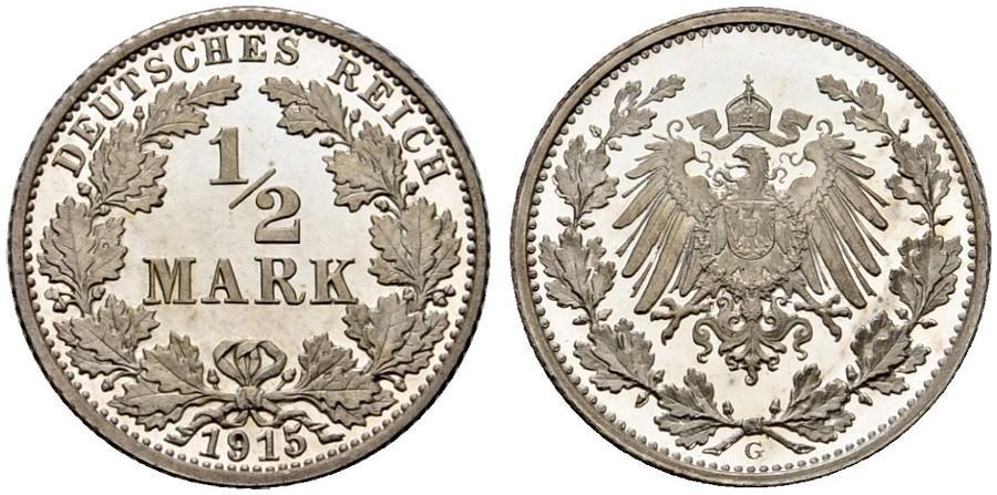 DE 1/2 Mark 1915 G