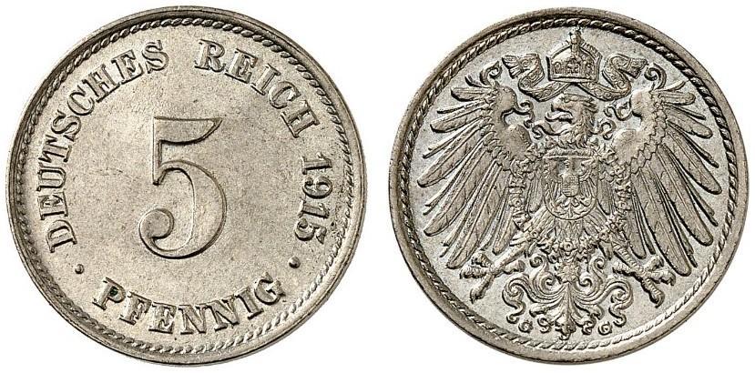 DE 5 Pfennig 1915 G