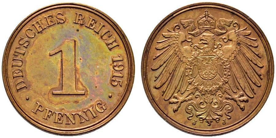 DE 1 Pfennig 1915 J