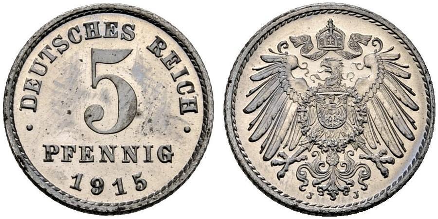 DE 5 Pfennig 1915 J