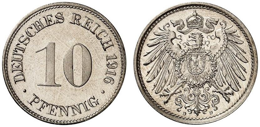 DE 10 Pfennig 1916 D