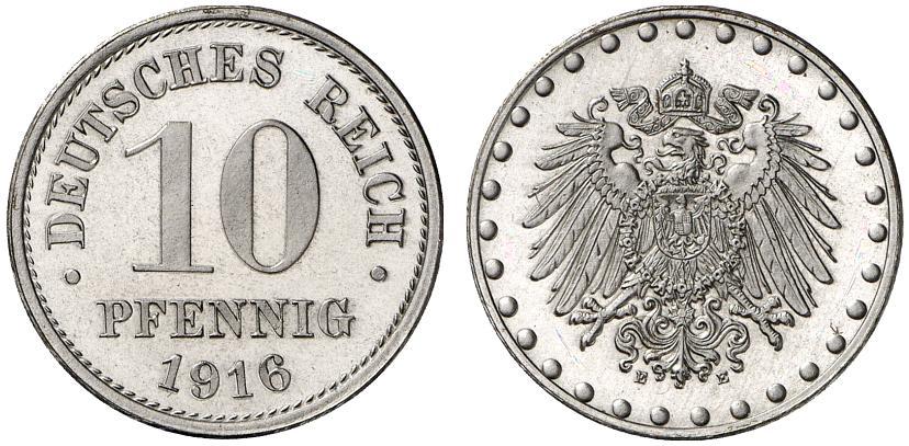 DE 10 Pfennig 1916 E