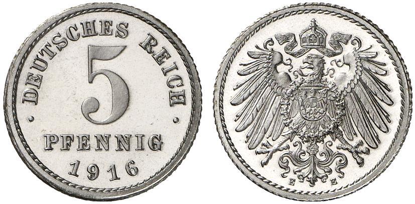 DE 5 Pfennig 1916 E