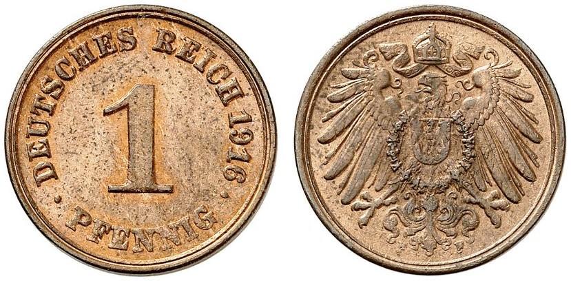 DE 1 Pfennig 1916 F