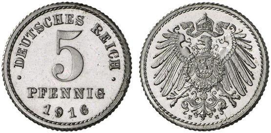 DE 5 Pfennig 1916 F