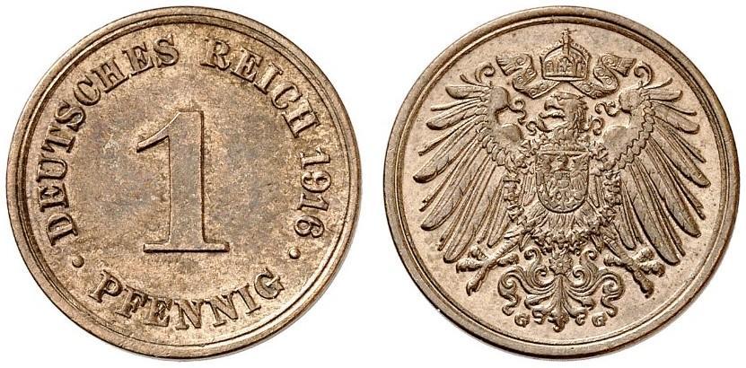 DE 1 Pfennig 1916 G