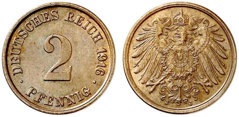 DE 2 Pfennig 1916 J