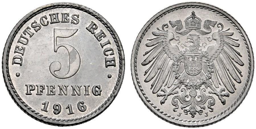 DE 5 Pfennig 1916 J