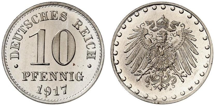 DE 10 Pfennig 1917 A