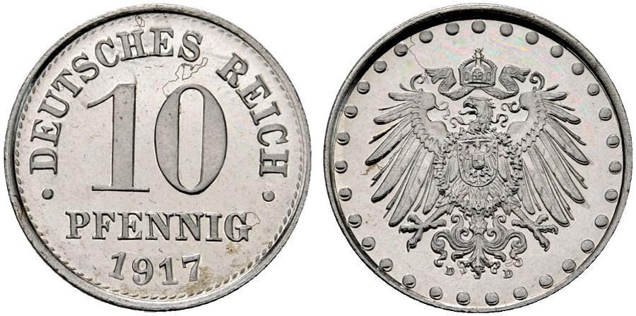 DE 10 Pfennig 1917 D