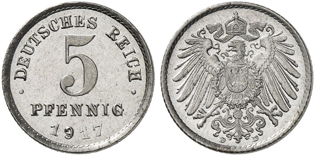 DE 5 Pfennig 1917 D