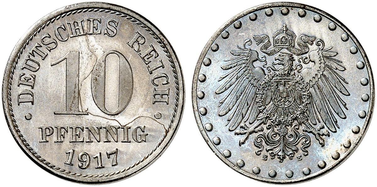 DE 10 Pfennig 1917 E