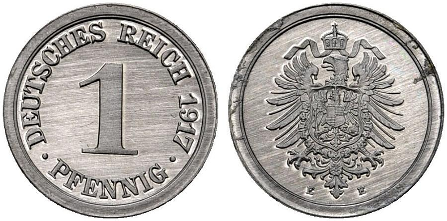 DE 1 Pfennig 1917 E