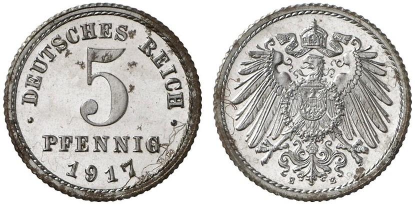 DE 5 Pfennig 1917 E