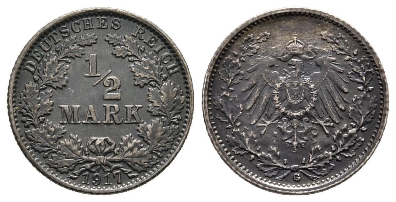 DE 1/2 Mark 1917 G