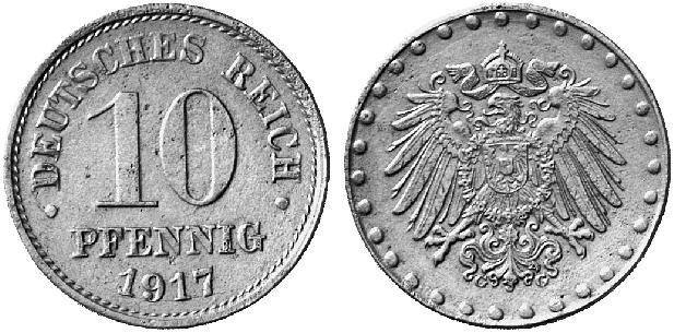 DE 10 Pfennig 1917 G